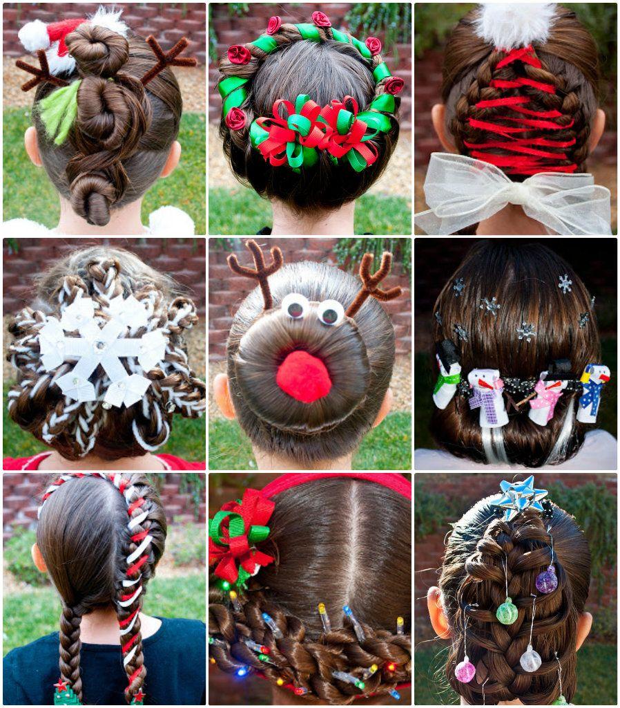 diy fabulous festive girls' christmas holiday hairstyle