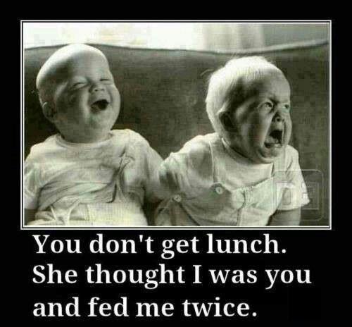 The baby is doing a evil laugh lol muwahahaha   Halarious