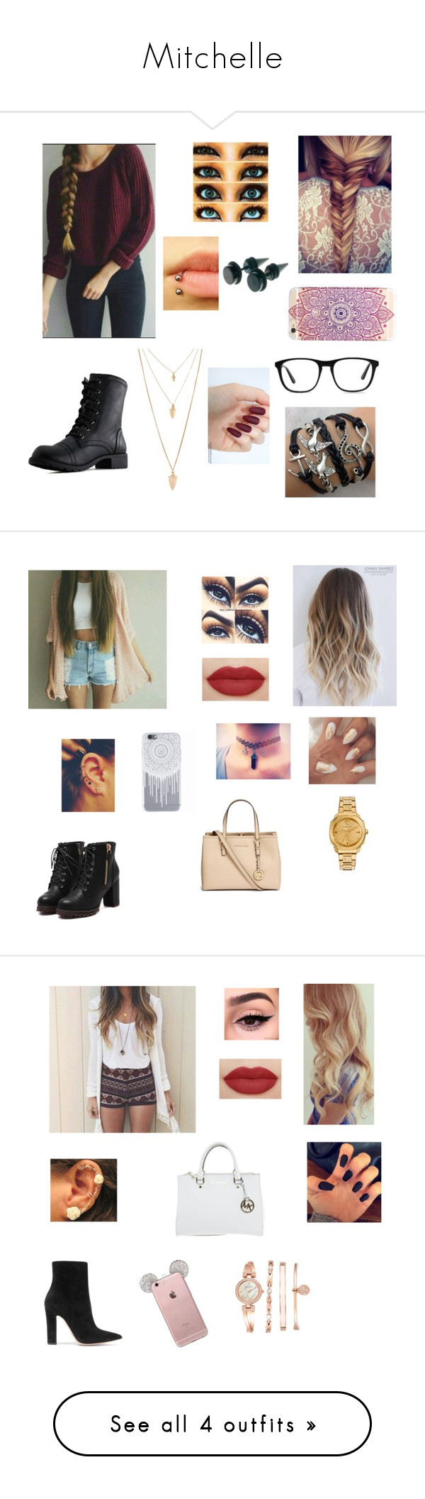 """""""Mitchelle"""" by ilovejustinbieber189 ❤ liked on Polyvore featuring Ace, Forever 21, Michael Kors, Anne Klein, Gianvito Rossi, beauty and Forever New"""