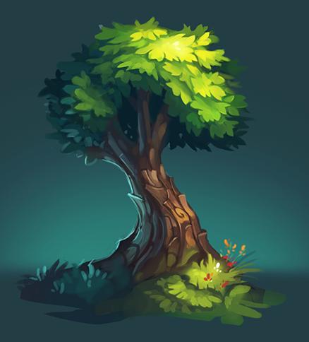 Tree speedpaint by Frayde.deviantart.com on @DeviantArt
