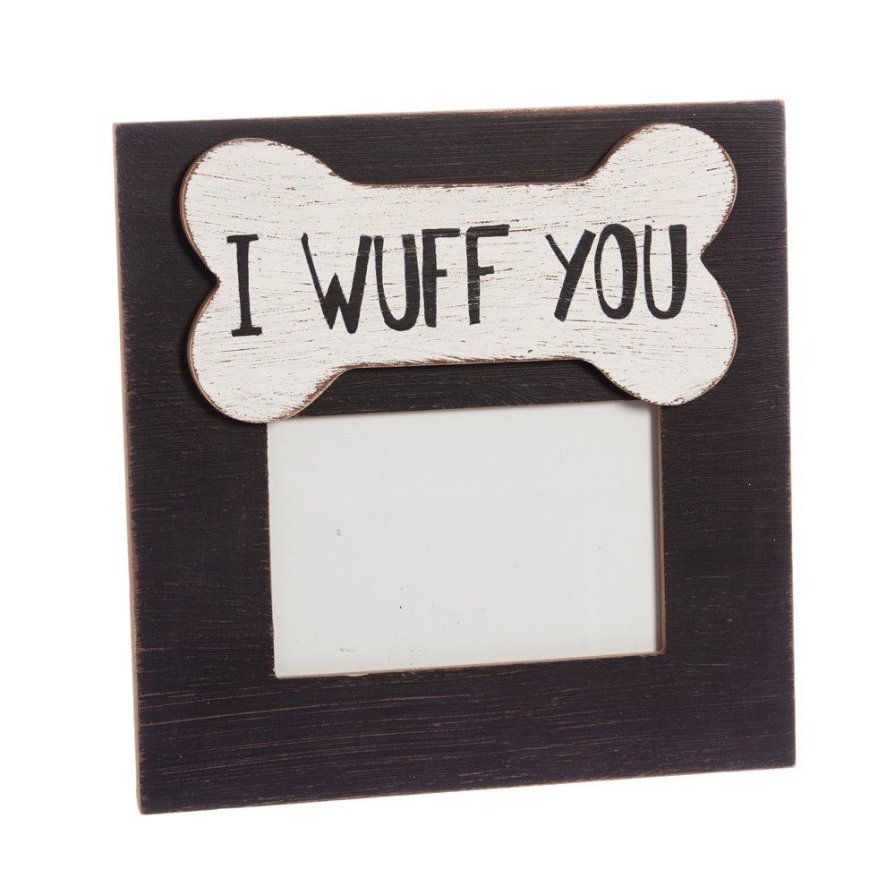 Cypress Home I Wuff You 4x6 Wooden Picture Frame ** Check this ...