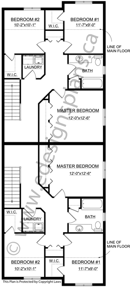Narrow Lot 2 Storey Front To Back Duplex 2012569 Duplex Plans Duplex House Plans How To Plan