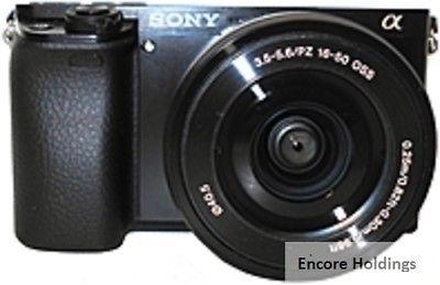 Sony Alpha A6000 Dslr Camera Black Ilce 6000l B Digital Cameras Dslr Or Mirrorless Digital Camera Camera