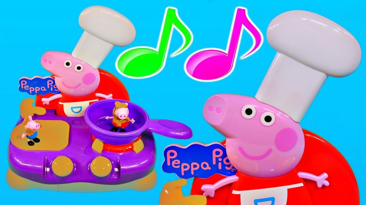 Cooking Toys Peppa Pig Breakfast Play Doh And Burger Toy Kitchen