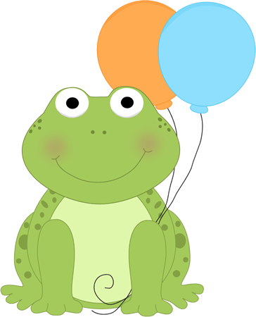 frog with balloons thema kikker