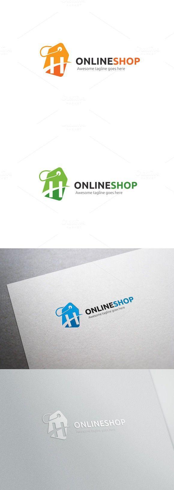 Online Shop Letter H Logo Logo Templates 2400 Logo Templates