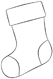 Stocking Coloring Page Printable Printable Christmas Stocking Coloring Pages Christmas Stocking Template
