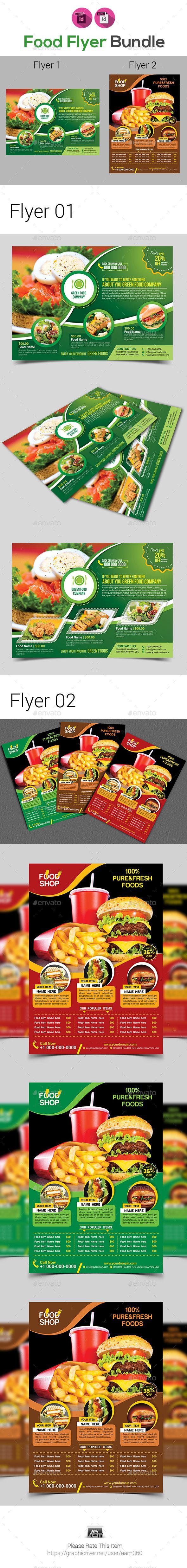Food Flyer Template Bundle  Restaurant Flyers Download Here