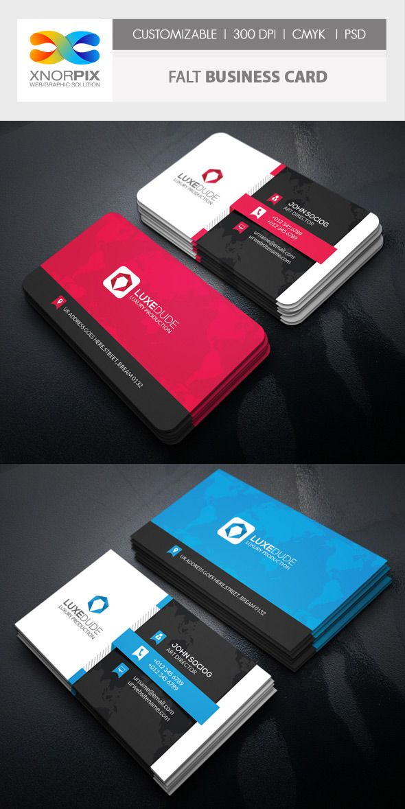 Flat Photoshop Busienss Card Template Bussines Card Pinterest - Photoshop business card template