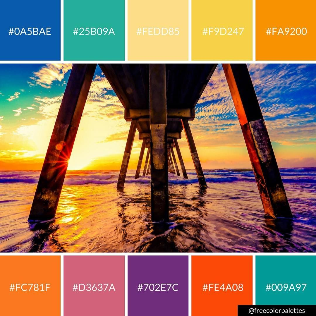 Beach Pier Color Palette Inspiration Great For Digital Art And