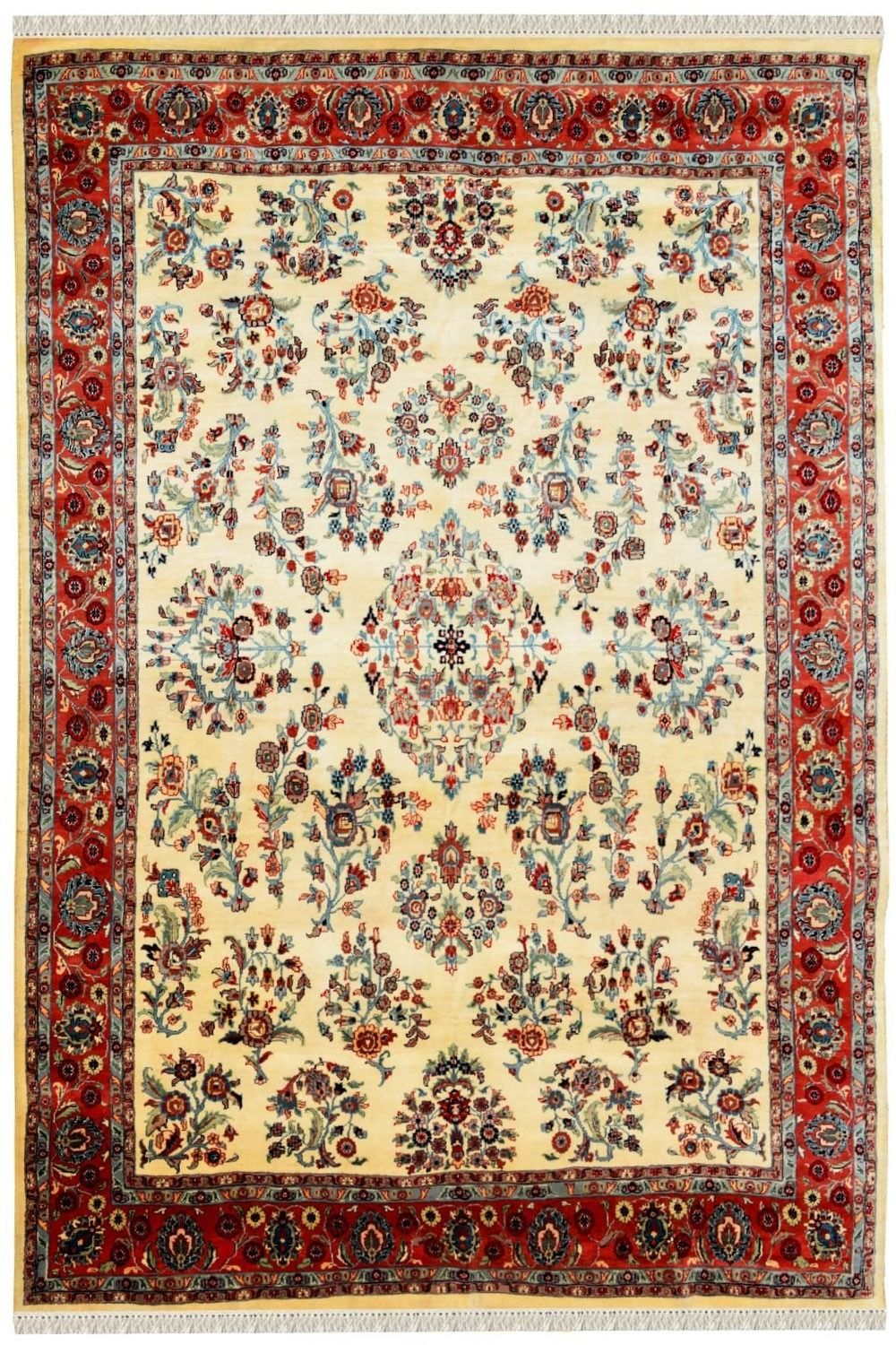 Ivory Phool Bagh Rug Shop Medium Size Wool Rugs Online With Images Carpet Shops Silk Area Rugs Wool Area Rugs