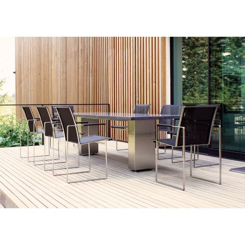 Gartentisch Cima Dining Doble 270 Cm Mit Keramik Oder Blaustein Tischplatte Von Fueradentro Gartentisch Moderne Gartenmobel Tischplatten