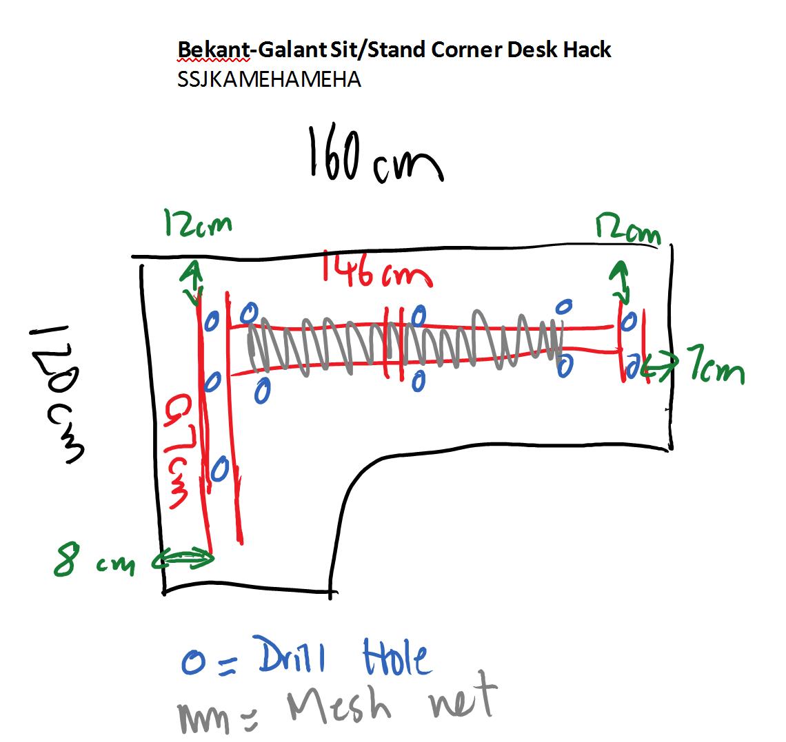 Image result for IKEA Bekant corner desk hacks Desk