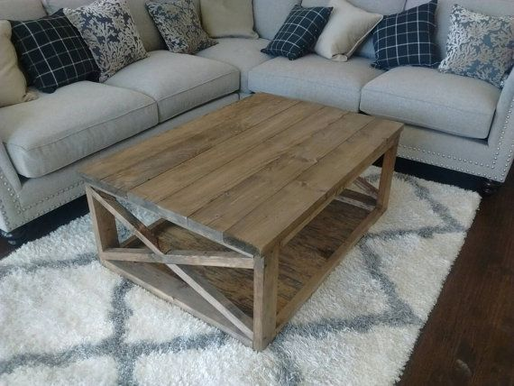 rustic modern coffee table with x legs rusticvileswoodworking