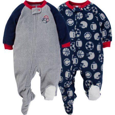 Gerber Baby Toddler Boy Microfleece Footed Blanket Sleeper b85143003