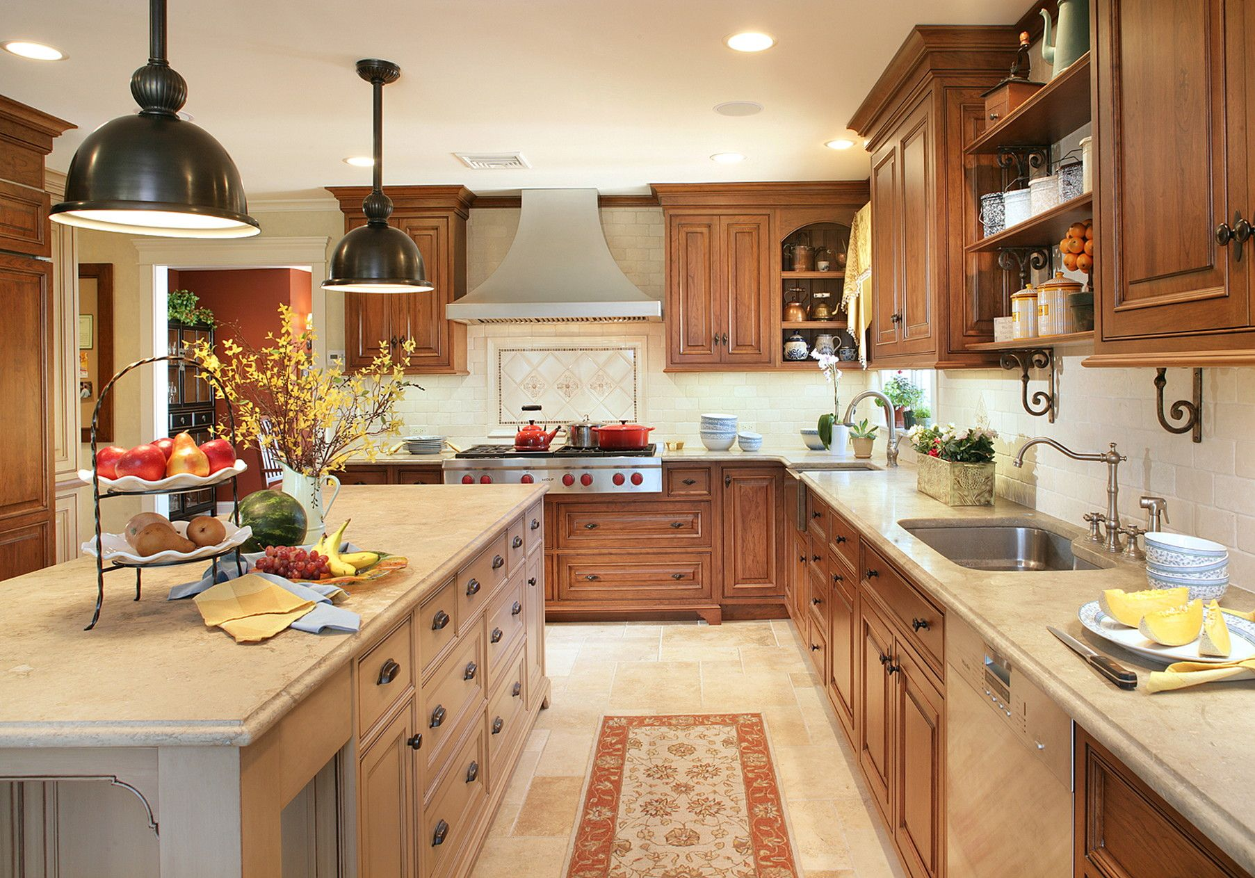 45 best french country kitchens design ideas remodel on a budget l shape kitchen layout on kitchen remodel french country id=58099