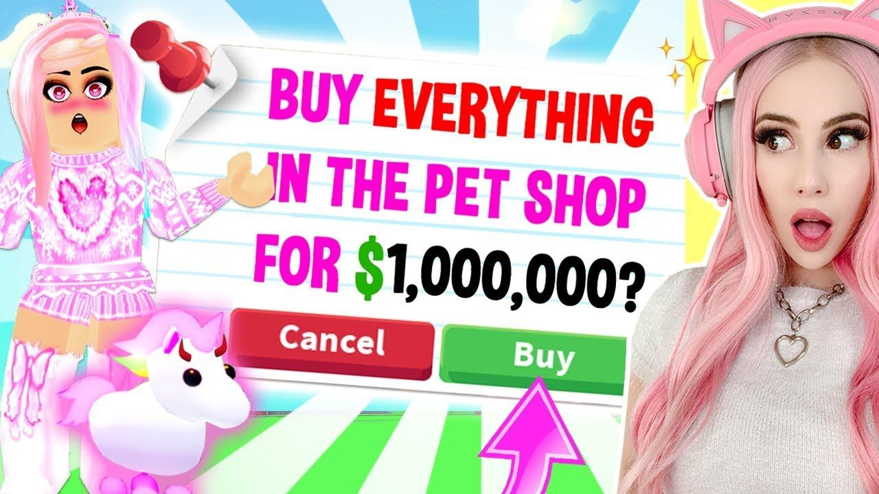 Buying Everything My Most Spoiled Pet Touches In Adopt Me Adopt Me Sp Adoption Pets Better Instagram