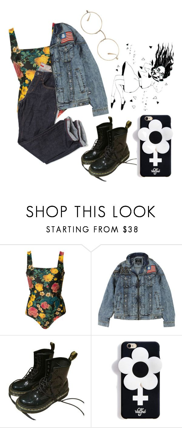 """""""Feminism"""" by martabiurrungarrido ❤ liked on Polyvore featuring FAUSTO PUGLISI, Dr. Martens, Valfré and The Row"""
