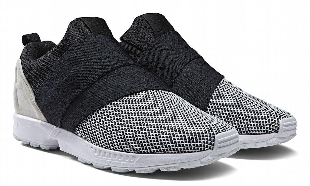 512c732ca98b2 Adidas Originals ZX Flux Slip On - White Core Black