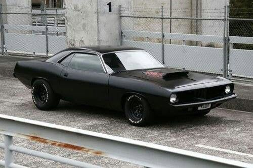 Plymouth Baracuda I M Digging The Flat Black Pure Muscle
