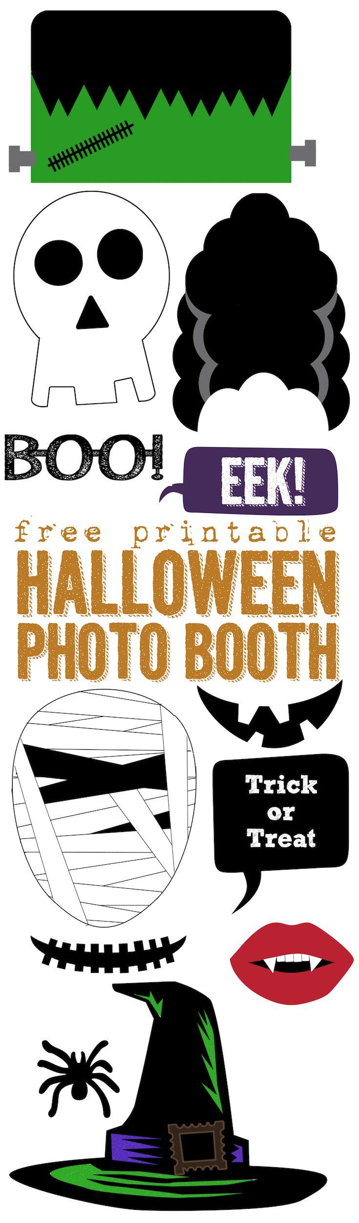 image regarding Halloween Photo Booth Props Printable Free named No cost Printable Halloween Picture Booth Halloween Halloween