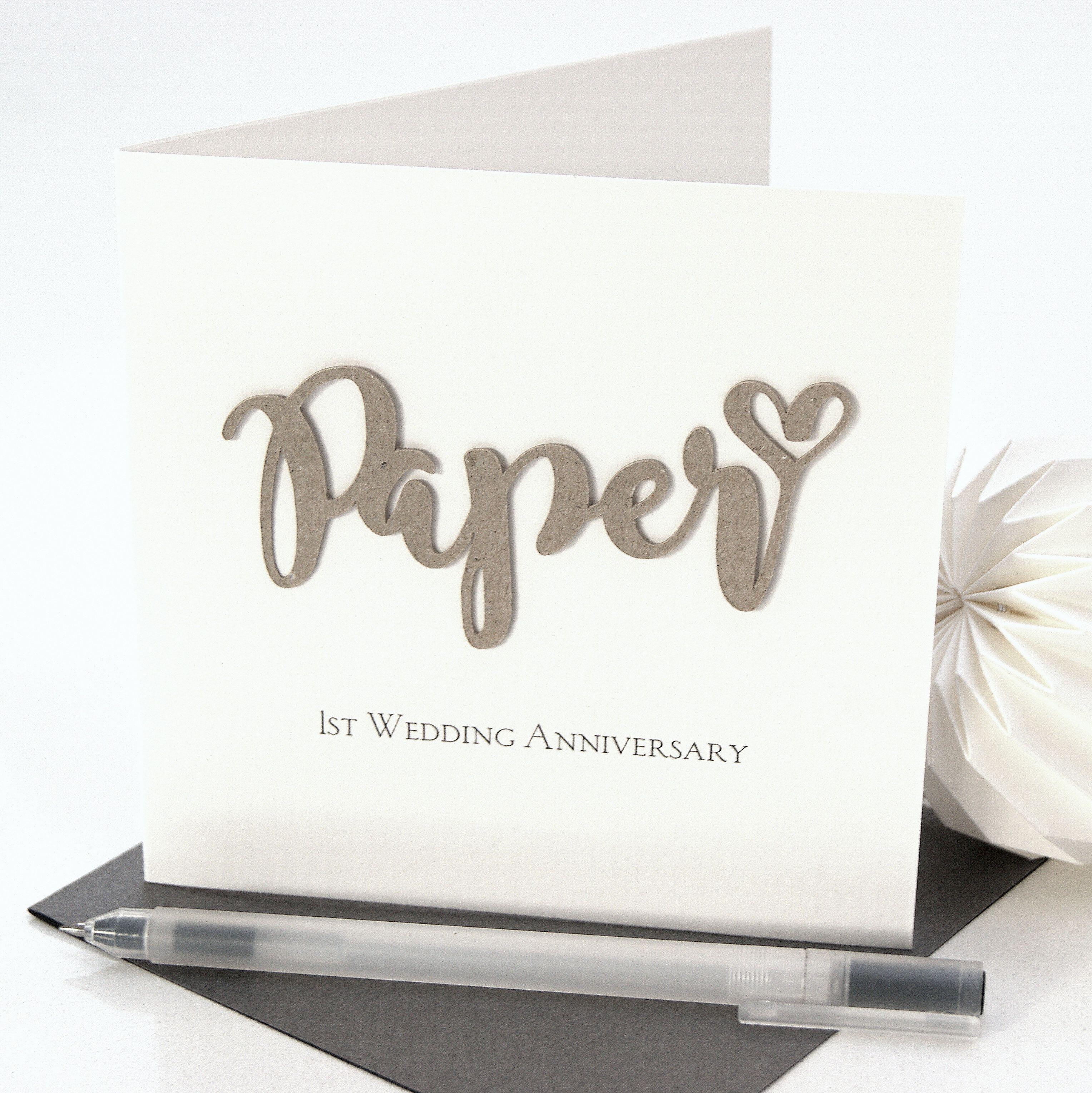 paper 1st wedding anniversary card invitations4weddings