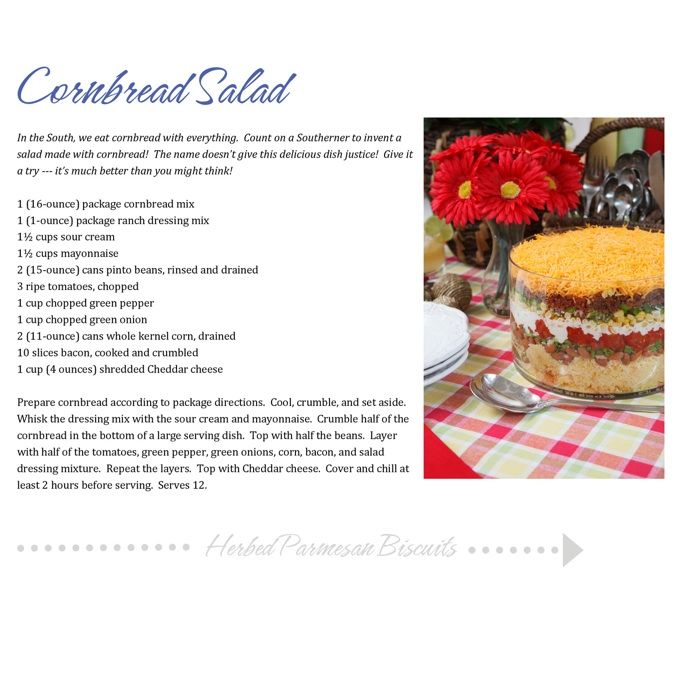 "Cornbread Salad! Recipe From My Column ""Celebrate"