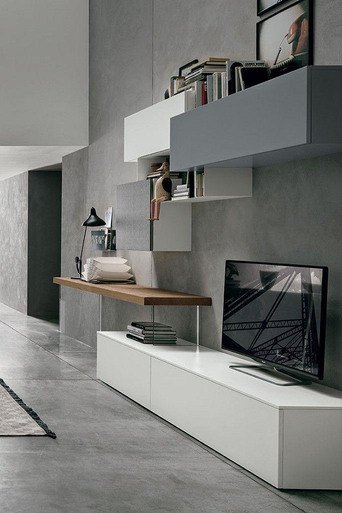 Composizione soggiorno a054 finiture disponibili for Outlet arredamento it