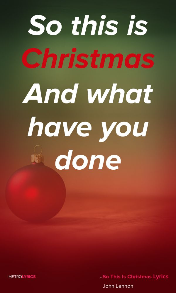 John Lennon So This Is Christmas Lyrics And Quotes So This Is