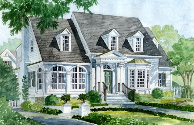 Home Plan The Santee Wpin1011 Columns And Dormers Accent