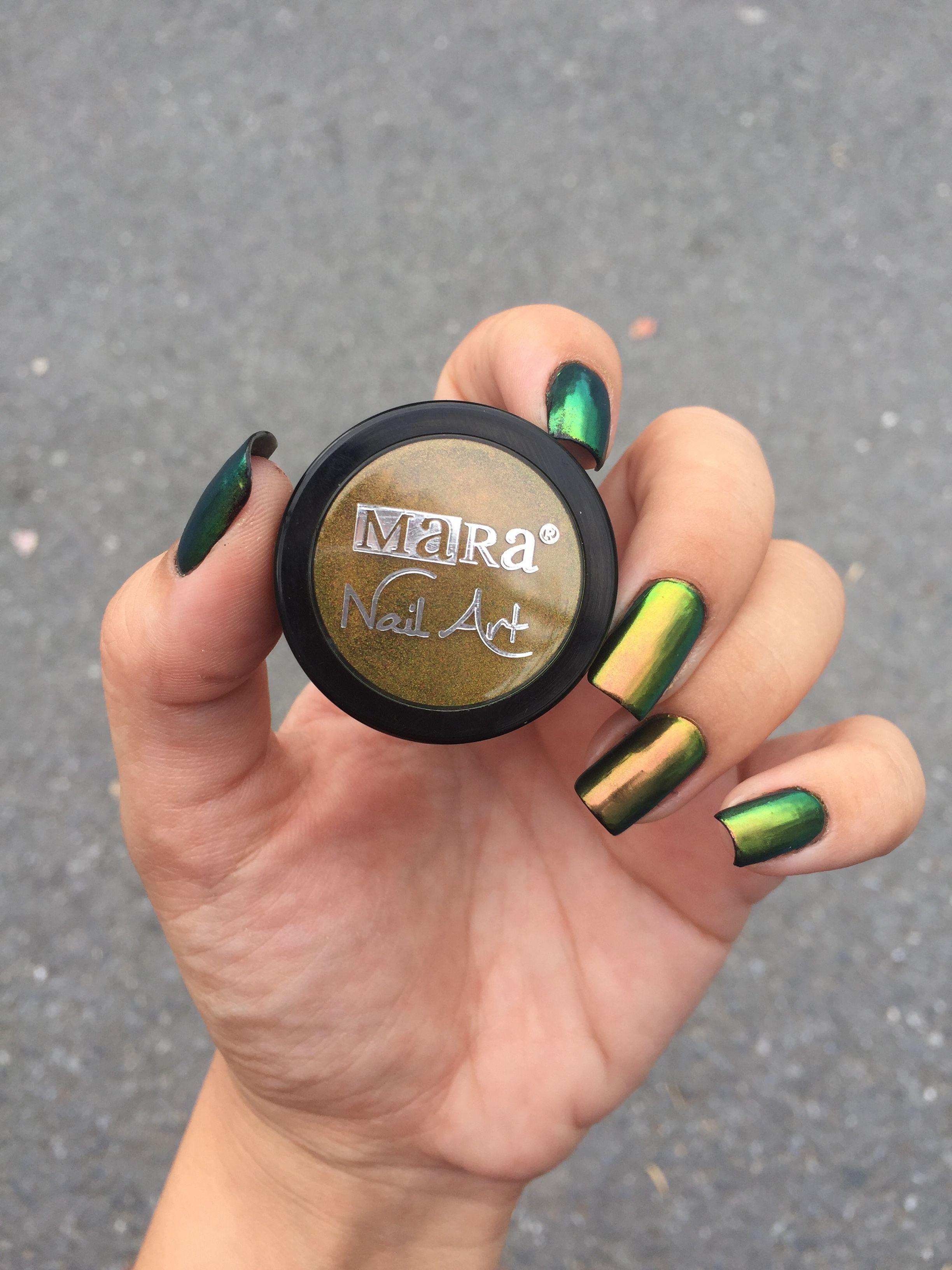 Chrome powder Nail art mara kozmetik | Ojemelo | Pinterest | Chrome ...