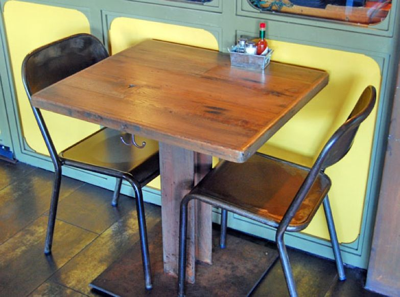 Unfinished Wood Restaurant Table Tops Best Home Interior - Reclaimed wood restaurant table tops