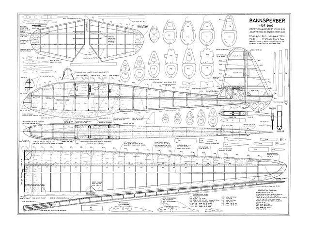 Bannsperber Plan Thumbnail Sailplanes Model Model