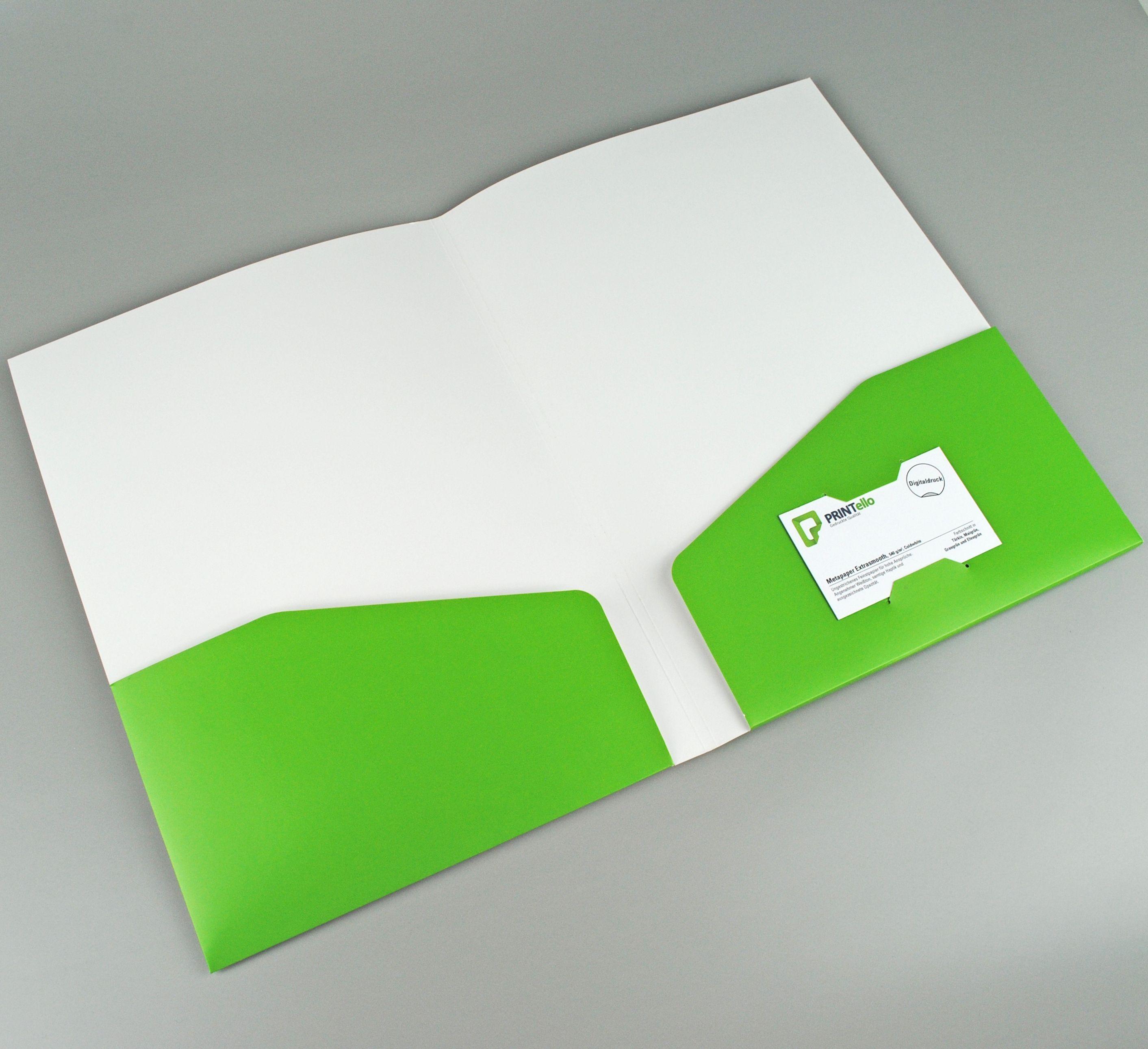 Mappen A4 Comfort Visitenkarten Angebotsmappen Und