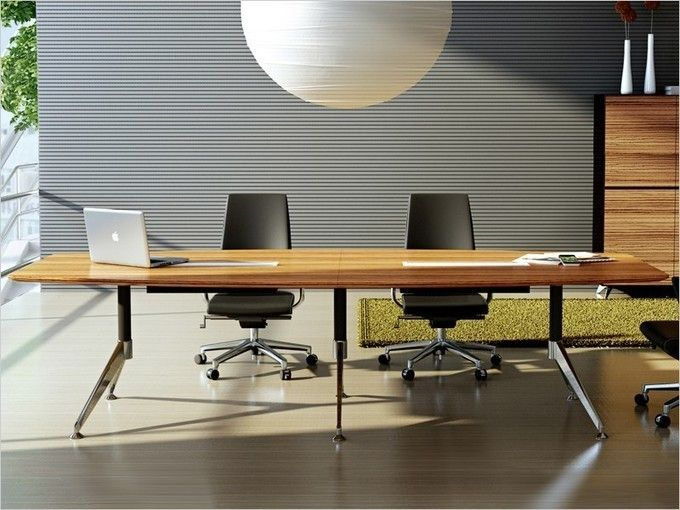Büroeinrichtung design  Design Konferenztisch Milano XXL Zebrano