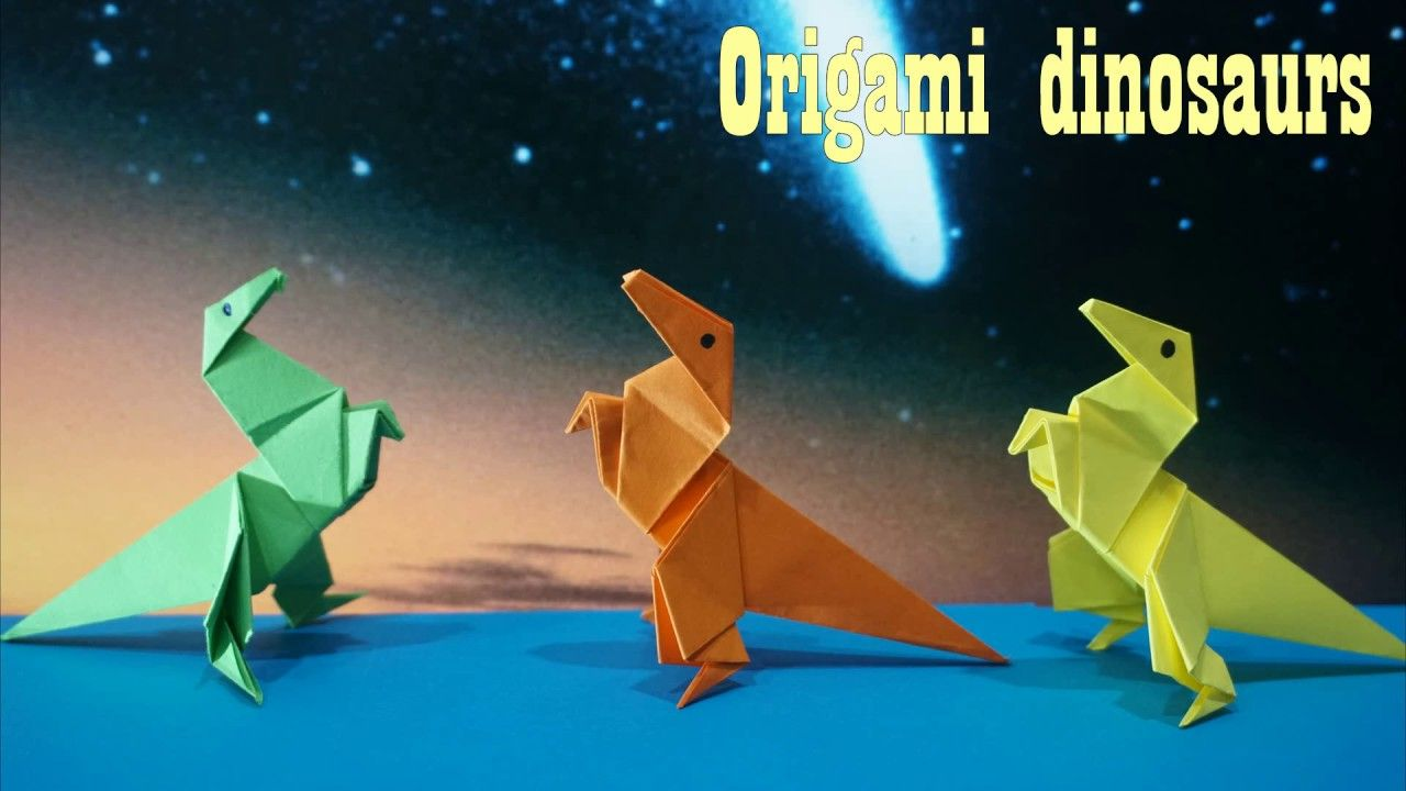 Photo of Origami Dinosaurs    How To Make An Origami Dinosaurs    paper craft art