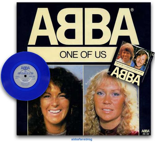 "Abba's single ""One Of Us"" on blue vinyl....   #Abba #Agnetha #Frida #Vinyl http://abbafansblog.blogspot.co.uk/2017/01/blue-vinyl-abba-single.html"