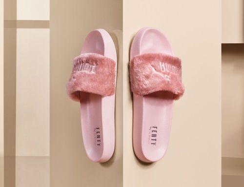 411d873f1b0f Puma X Rihanna Fenty Slides Lead Slippers Fur Women S Pink Size Us 6 ...