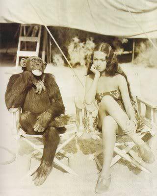 dorothy lamour | Dorothy Lamour y Jiggs en una pausa de rodaje de 'Her jungle love ...