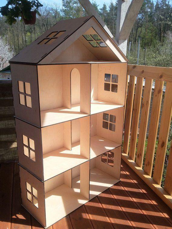 Barbie Big Dollhouse Wooden Barbie Dollhouse Dollhouse Furniture
