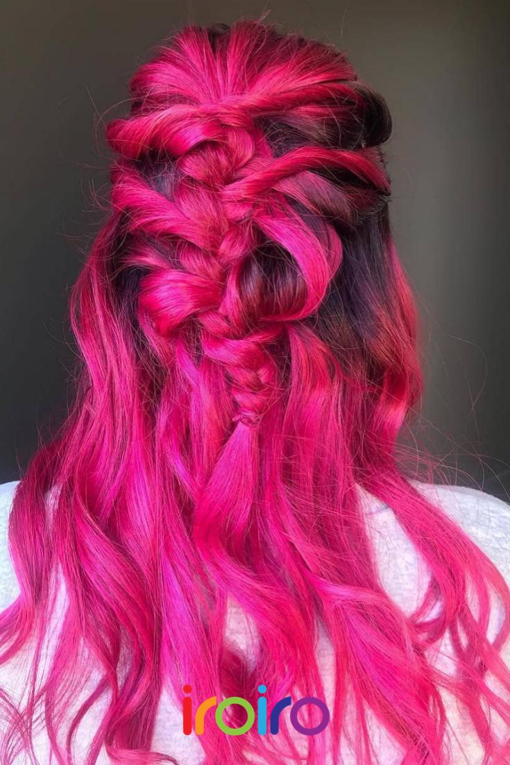 Iroiro 310 Uv Reactive Pink Neon Vegan Cruelty Free Semi Permanent Hair Color Neon Hair Color Hair Color Pink Pink Hair