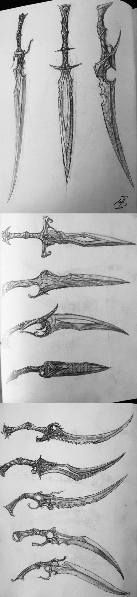 Some sword concepts in my sketchbook. Enjoy!