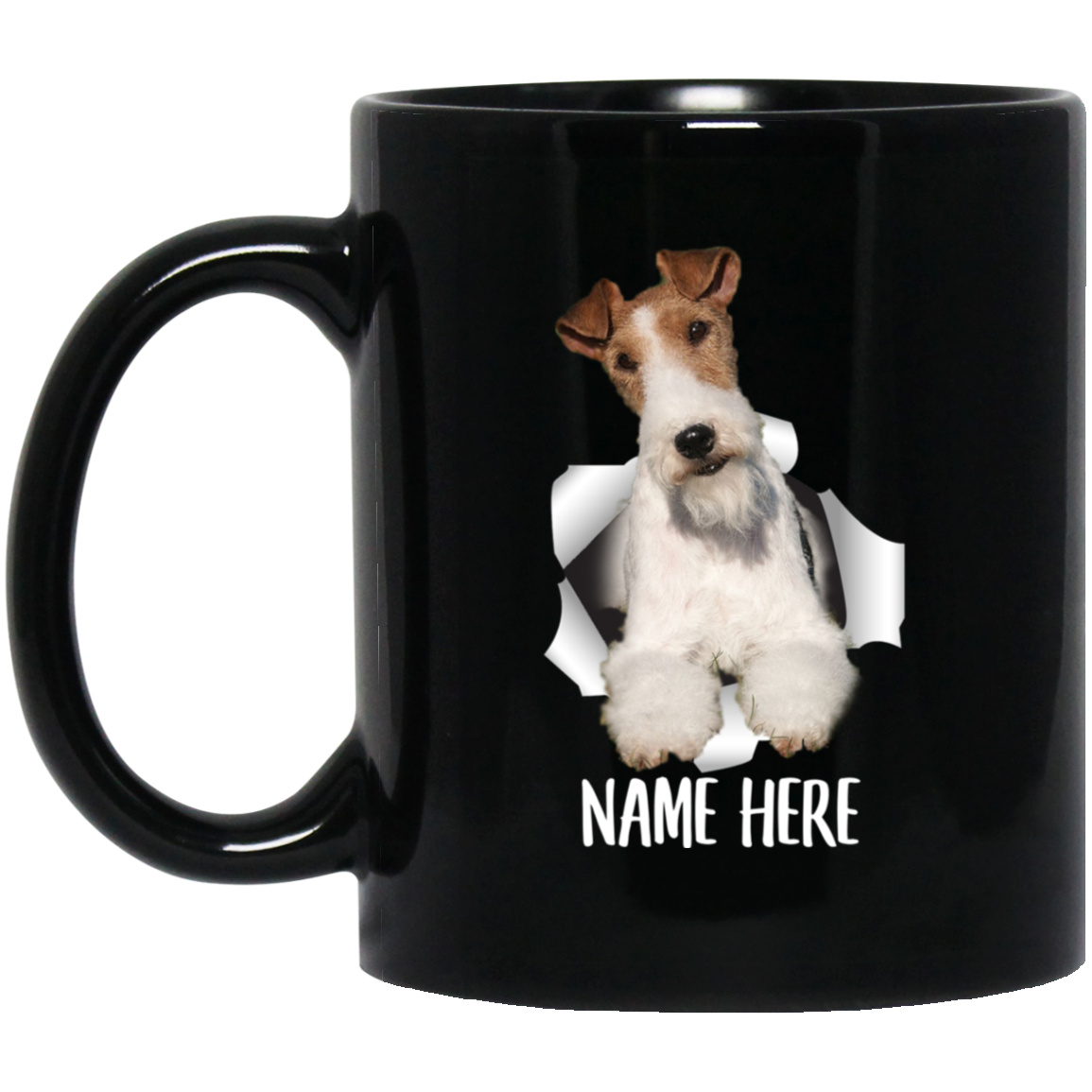 Funny Personalized Wire Hair Fox Terrier Fawn Red Custom