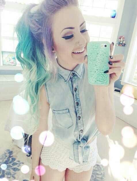 teen hair dyed Cute with