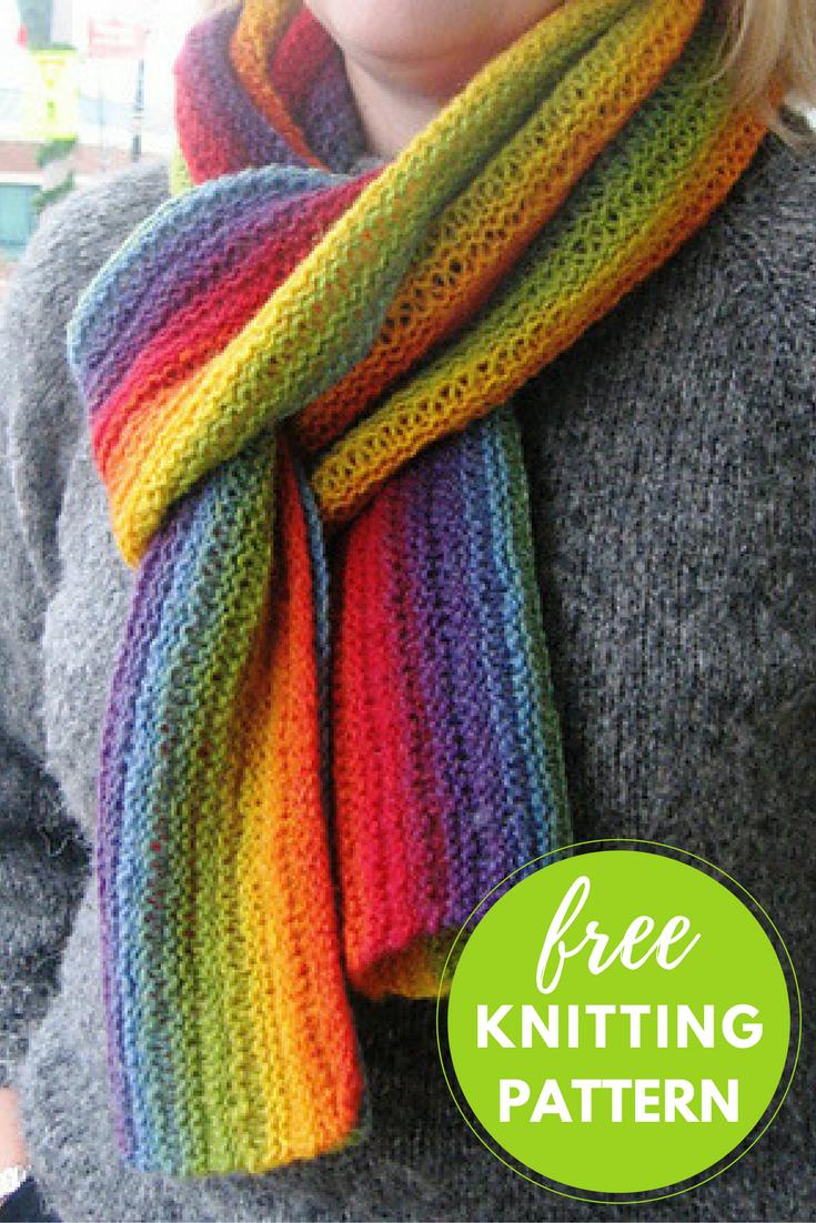 Kauni Effektgarn Newton Scarf Free Knitting Pattern | Easy knitting ...
