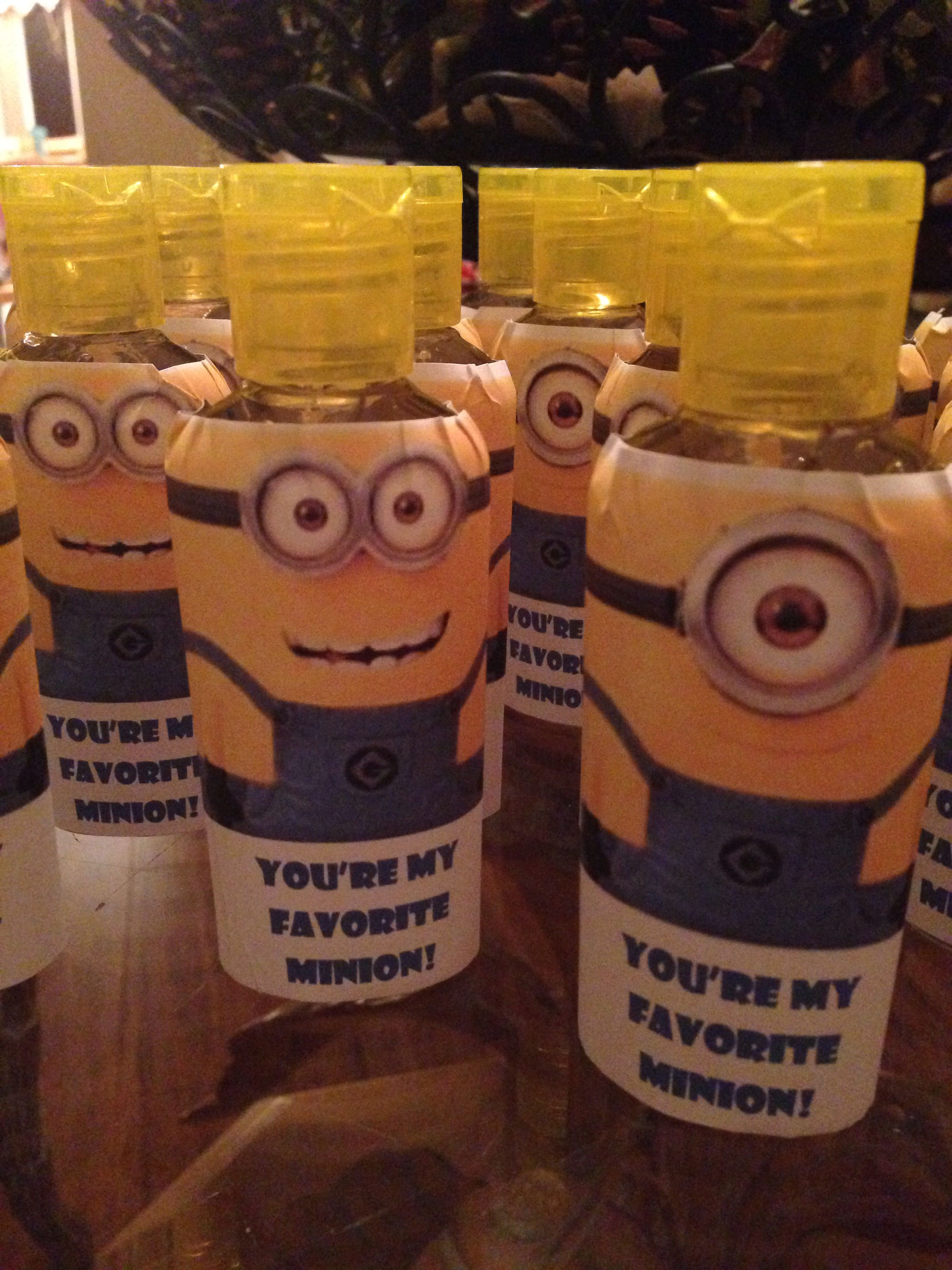 Minion Hand Sanitizers 3x4 Labels Dollar Store Sanitizer Minion