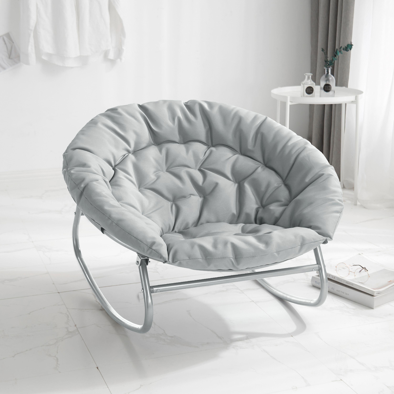 urban shop rocking saucer chair gray  walmart