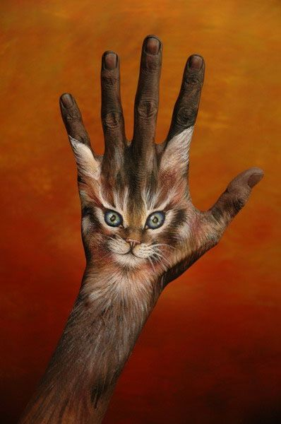 'Hand-painting' art by Guido Daniele