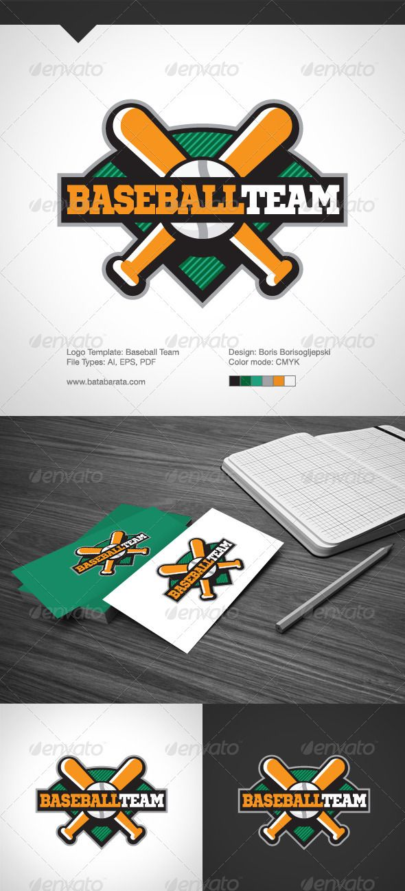 Baseball Team Logo Template | Logos, Fonts and Logo templates