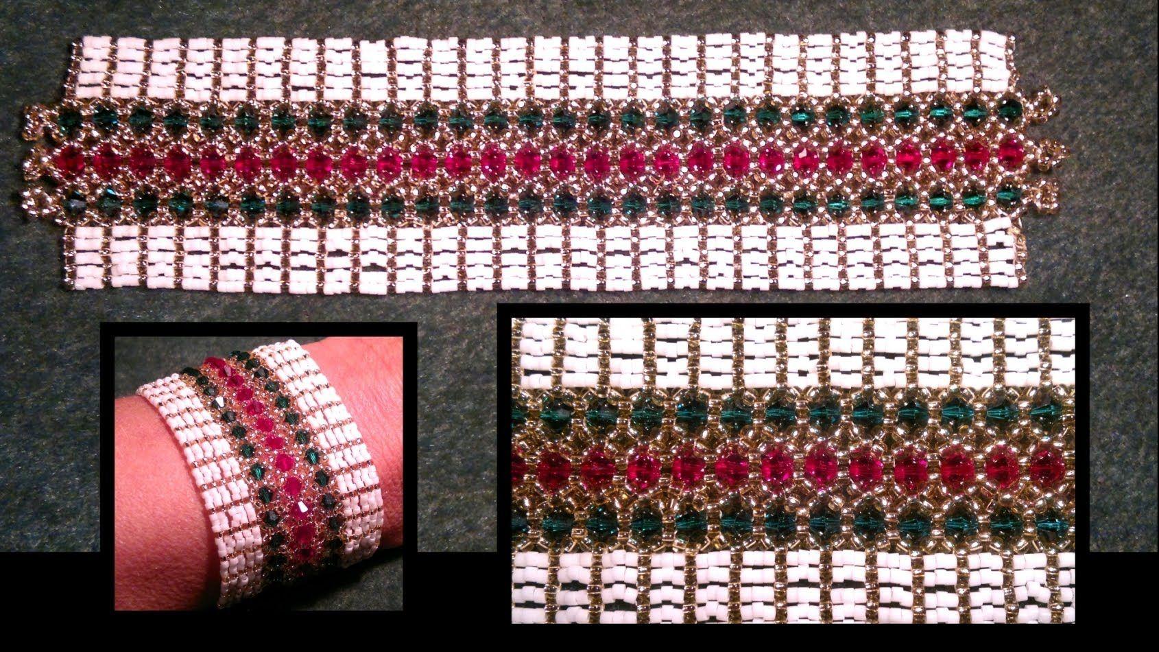 "Beading4perfectionists : ""Misletoe in the Snow"" Christmas bracelet beadi..."